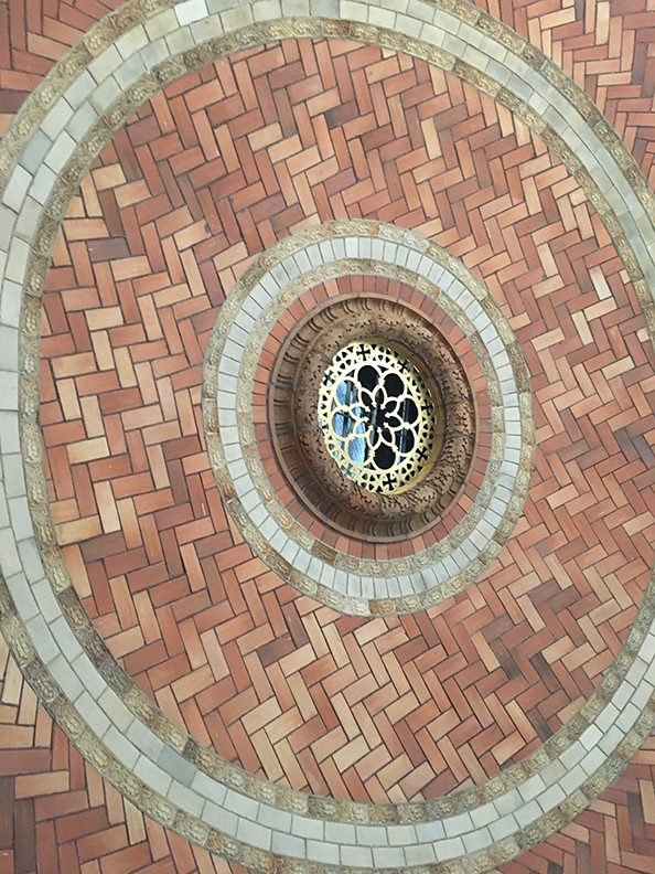 The Guastavino tiles in the interior dome ceiling were cleaned, repaired, and replaced.
