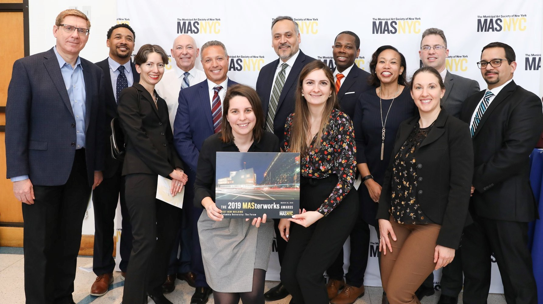 Manhattanville Development Group and The Forum's design team at the MASterworks ceremony.